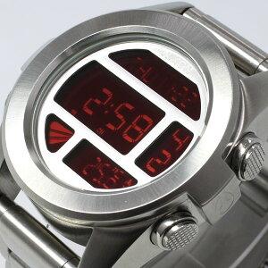 ニクソンNIXONTHEUNITSSユニットSSニクソン腕時計メンズシルバー/レッドデジタルNA3601263-00