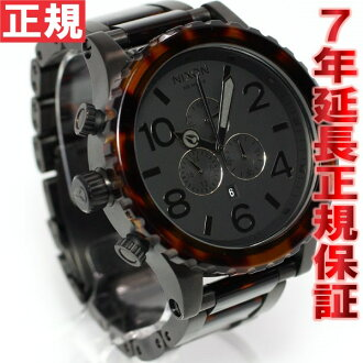 Nixon NIXON 51-30 CHRONO Chrono Watch men's matte black / ダークトートイズ chronograph NA0831061-00