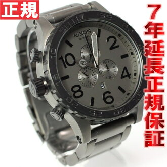 51-30 Nixon NIXON CHRONO Kurono watch men mat black / mat gunmetal chronograph NA0831062-00