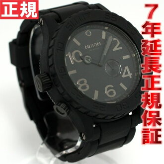 NIXON 51-30 RUBBER rubber the Nixon 51-30 watch-men's black NA236000-00