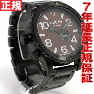 Nixon NIXON 51-30 watch-men's dark / black NA0571107-00