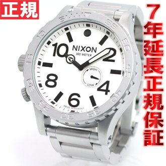 Nixon NIXON 51-30 watch men's サンデッドスティール / white NA0571166-00