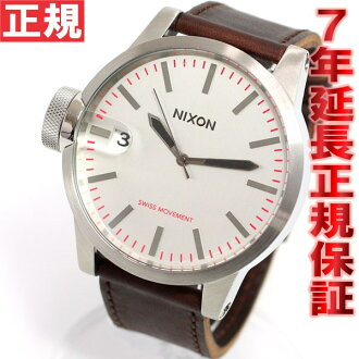 Nixon NIXON Chronicle CHRONICLE watch men's silver / Brown NA1271113-00
