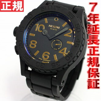 Nixon NIXON the 51-30 rubber RUBBER 51-30 watch men's matte black / gold NA2361041-00