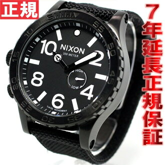 Nixon NIXON 51-30 watch-men's all black nylon NA0571148-00
