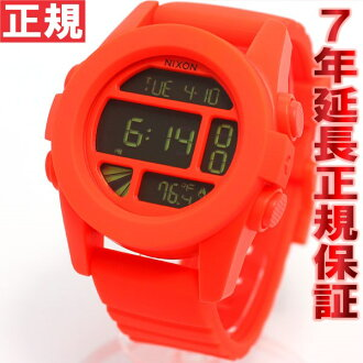 Nixon NIXON unit UNIT watches mens digital neon Orange NA1971156-00