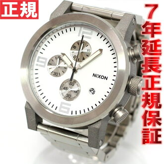 Nixon NIXON ride RIDE SS SS watch men's chronograph white NA347100-00