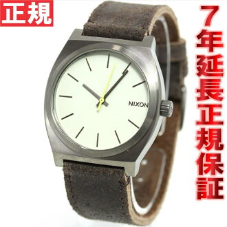 Nixon NIXON time teller p TIME TELLER watch men's gunmetal / Brown NA0451388-00