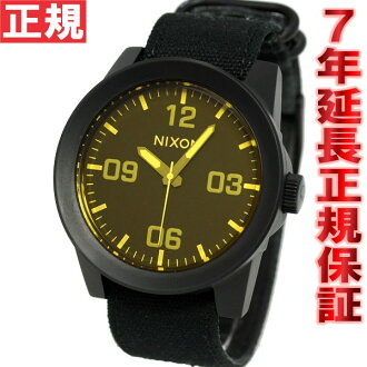 Nixon NIXON corporal CORPORAL watch men's matte black / オレンジティント NA2431354-00