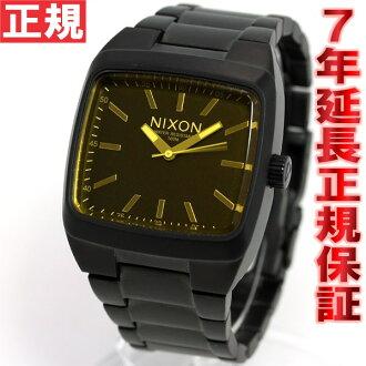 Nixon NIXON manual MANUAL watch men's matte black / オレンジティント NA2441354-00