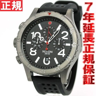 Nixon NIXON 48-20 Chrono P 48-20 CHRONO P watch men's chronograph gunmetal black / red NA278146-00