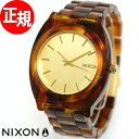 ニクソン NIXON THE TIME TELLER ACETATE タイムテラー アセテート 腕時計 レディース ゴールド/モラセス NA3271424-00...