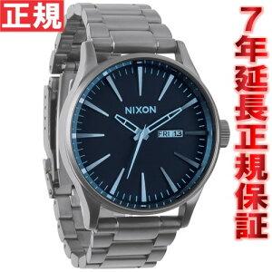ニクソンNIXONセントリーSSSENTRYSS腕時計メンズガンメタル/ブルークリスタルNA3561427-00