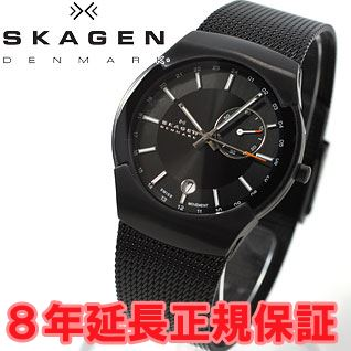Scar gene SKAGEN watch men black label BLACK LABEL architect ARCHITECT GMT 983XLBB