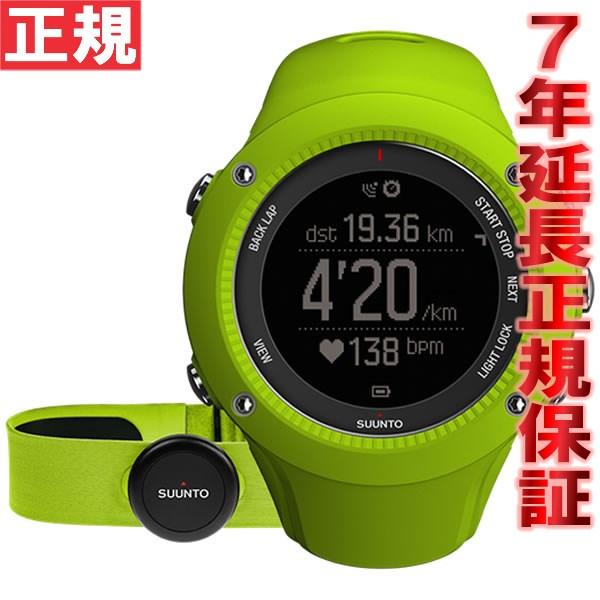 【1500円OFFクーポン!11月27日12時59分まで!】スント アンビット3 ラン ライム (HR) SUUNTO AMBIT3 RAN LIME (HR) 腕時計 Bluetooth搭載 GPSウォッチ SS021261000