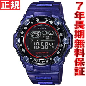 CASIOBABY-GカシオベビーGTripperトリッパー電波ソーラー電波時計腕時計レディースブルー×ブラックデジタルBGR-3000GS-2JF