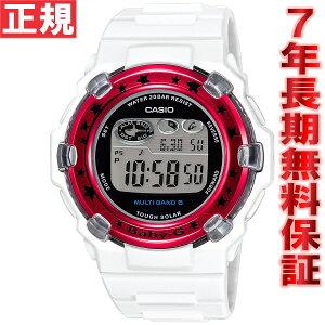 CASIOBABY-GカシオベビーGTripperトリッパー電波ソーラー電波時計腕時計レディースホワイト×レッドデジタルBGR-3000GS-7JF