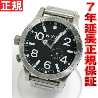 NIXON 51-30 Nixon NIXON THE 51-30 watch mens black NA057000-00 tide features