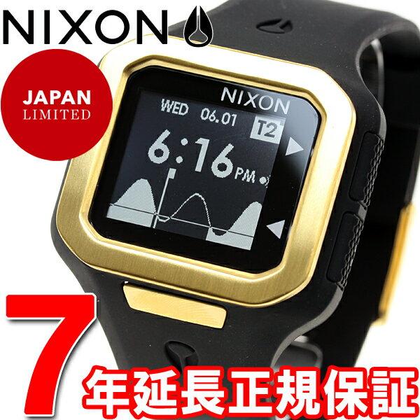ニクソン NIXON スーパータイド SUPERTIDE 限定モデル 腕時計 メンズ オールブラック/ゴールド NA3161031-00【2016 新作】 [正規品][送料無料][7年延長正規保証][ラッピング無料]