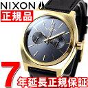 ニクソン NIXON タイムテラーデラックスレザー TIME TELLER DELUXE LEATHER 腕時計 メンズ/レディース ゴールド/ブラックサンレイ NA9271604-00【2016 新作】