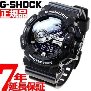 本日ポイント19倍!9日9時59分まで! G-SHOCK ブラック 腕時計 メンズ アナデジ GA-400GB-1AJF【あす楽対応】【即納可】