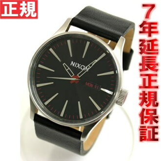 Nixon NIXON watch SENTRY LEATHER NA105000-00 Black