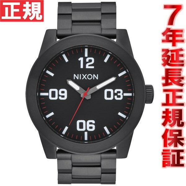 ニクソン NIXON コーポラルSS CORPORAL SS 腕時計 メンズ オールブラック/ホワイト NA346756-00【2016 新作】 [正規品][送料無料][7年延長正規保証][ラッピング無料][サイズ調整無料]高山まいこ