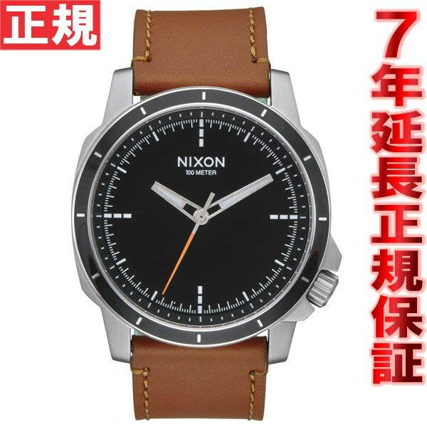 ニクソン NIXON レンジャーOPSレザー RANGER OPS LEATHER 腕時計 メンズ ブラック/サドル NA9141037-00【2016 新作】 [正規品][送料無料][7年延長正規保証][ラッピング無料]