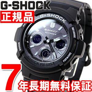 カシオGショックCASIOG-SHOCK電波ソーラー腕時計メンズ電波時計ガリッシュブラックアナデジAWG-M100BW-1AJF