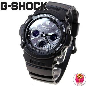 G-SHOCKGショックカシオ電波ソーラー腕時計メンズ電波時計ガリッシュブラックアナデジAWG-M100BW-1AJF【送料無料】