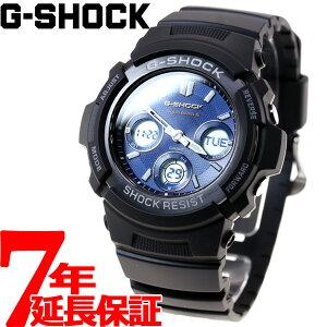 カシオGショックCASIOG-SHOCK電波ソーラー電波時計腕時計メンズブラックアナデジタフソーラーAWG-M100SB-2AJF