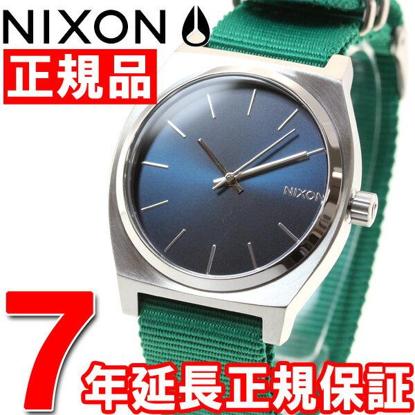 ニクソン NIXON タイムテラー TIME TELLER 腕時計 メンズ/レディース ネイビー/グリーン NA045742-00【2016 新作】【対応】【即納可】 [正規品][送料無料][7年延長正規保証][ラッピング無料] 対応