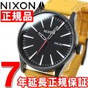 ニクソン NIXON セントリーレザー SENTRY LEATHER 腕時計 メンズ オールブラック/ゴールデンロッド NA1052448-00【2016 新作】