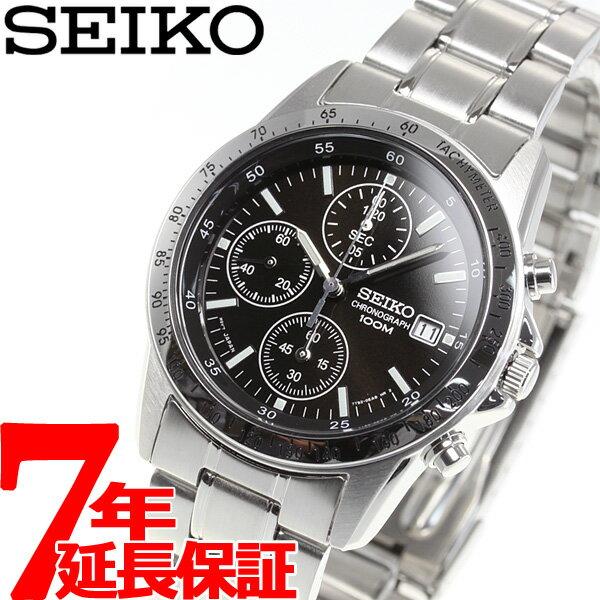セイコー逆輸入 SEIKO クロノグラフ ブラック 腕時計 メンズ 100m防水 SND3…...:asr:10019685