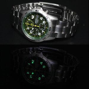 逆輸入セイコーSEIKO腕時計クロノグラフSND377P1