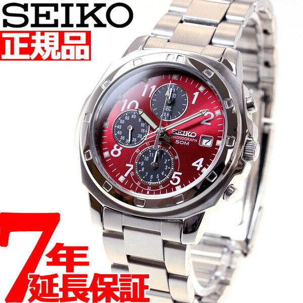 セイコー SEIKO 逆輸入 クロノ SEIKO 腕時計 メンズ クロノグラフ レッド S…...:asr:10019742