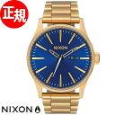 ニクソン NIXON セントリーSS SENTRY SS 腕時計 メンズ オールゴールド/ブルーサンレイ NA3562735-00