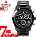 スイスミリタリー 腕時計 SWISS MILITARY PVD BLACK BIG CHRONO ML247