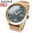 ニクソン NIXON コーポラル CORPORAL 腕時計 メンズ ブラス/ネイビー/ヒッコリー NA2432731-00