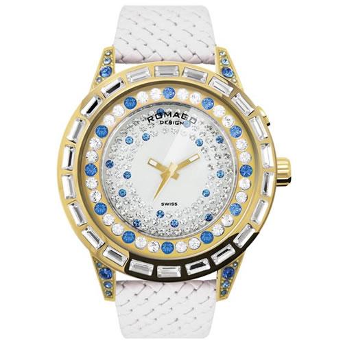 ロマゴ デザイン ROMAGO DESIGN 腕時計 レディース DAZZLE ダズル RM006-1477GD-BU [正規品][送料無料][ラッピング無料]