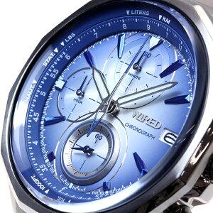 セイコーワイアードSEIKOWIRED腕時計メンズTHEBLUEザ・ブルークロノグラフAGAW433