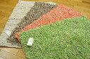 インド綿の肌ざわりと手織りの風合いが心地良いマットです♪インド綿ハンドメイドマットシャギ...