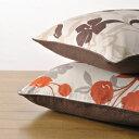ナチュラルな花柄とドビー織りのリバーシブルコットン100% リバーシブルクッション座布カバー5...