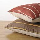ランダムなラインとドビー織りのリバーシブルコットン100% リバーシブルクッション座布カバー5...