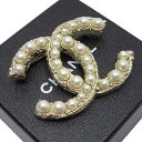 シャネル CHANEL ブローチ ココマーク ゴールドxパール 金属素材xフェイクパール レデ
