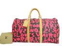 ルイヴィトン Louis Vuitton バッグ モノグラム グラフィティ キーポル50 Keepall トラベル 旅行◆Pink ピンク フューシャ ブラウン...