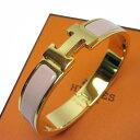 エルメス HERMES ブレスレット バングル クリッククラック ゴールドxピンク 金属素材x