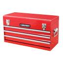 AP ツールボックス 3段 ベアリング レッド BX763【工具箱 収納 箱物収納 ガレージ 整理 ボックス 道具箱 工具入れ】