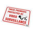 AP PROTECTED BY VIDEO SURVEILLANCE プラスチック看板【英語看板 プレート サイン パネル】【アメリカン 監視カメラ有り】【アストロプロダクツ】