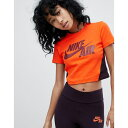 ナイキ レディース Tシャツ トップス Nike Cropped T-Shirt In Orange Team orange/team re...